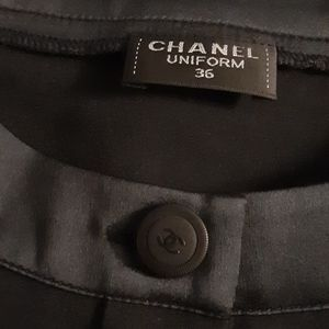 CHANEL Tops - CHANEL BLACK BLOUSE small